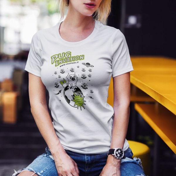 T-shirt carlino Pug invasion - Ugopiadi