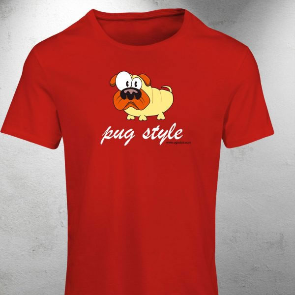 T-shirt cane carlino Pug style - Ugopiadi