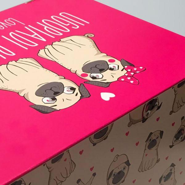 La scatola del cane carlino