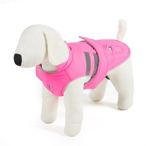 piumino fucsia per cani